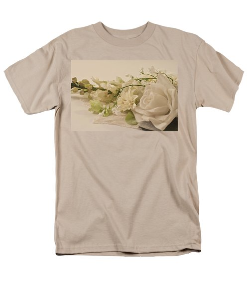 Men's T-Shirt  (Regular Fit) featuring the photograph Many White Flowers  by Sandra Foster