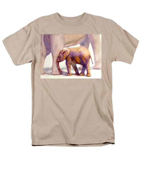 Mom And Baby Boy Elephants Men's T-Shirt  (Regular Fit) by Bonnie Rinier