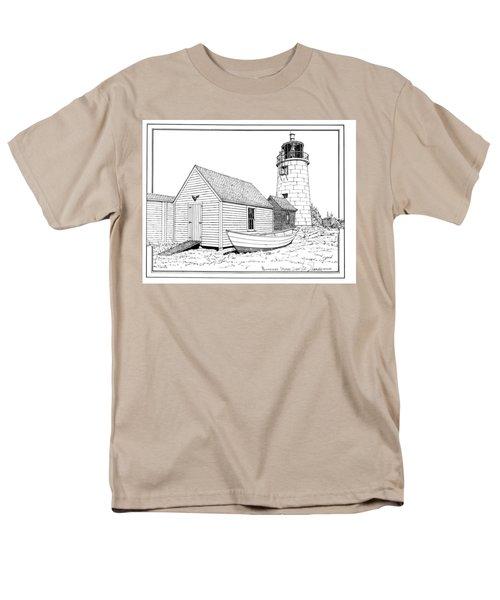Monhegan Island Light Men's T-Shirt  (Regular Fit) by Ira Shander