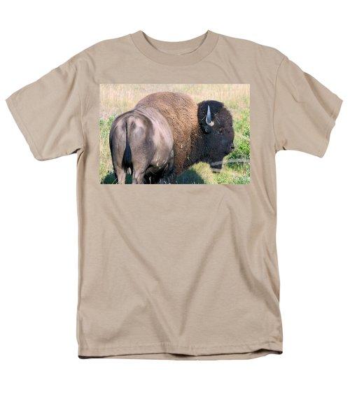 Men's T-Shirt  (Regular Fit) featuring the photograph Montana Buffalo Bison Bull by Karon Melillo DeVega