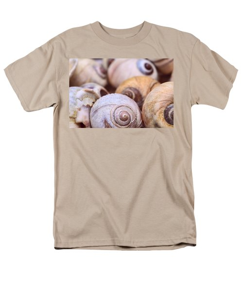 Men's T-Shirt  (Regular Fit) featuring the photograph Moon Snail Shells by Peggy Collins
