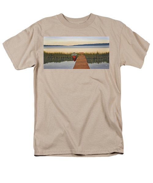 Men's T-Shirt  (Regular Fit) featuring the painting Morning Has Broken by Kenneth M  Kirsch