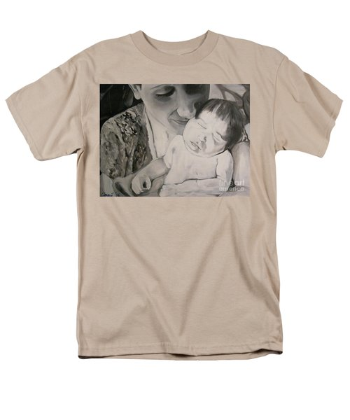 Men's T-Shirt  (Regular Fit) featuring the painting Mother And Child by Carrie Maurer