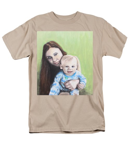 Mother And Son Men's T-Shirt  (Regular Fit) by Jeanne Fischer