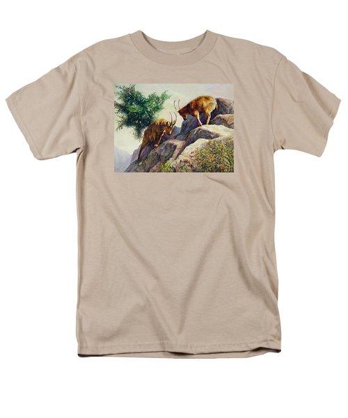 Mountain Goats - Powerful Fight  Men's T-Shirt  (Regular Fit) by Svitozar Nenyuk