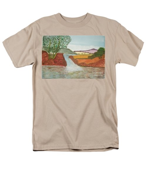 Men's T-Shirt  (Regular Fit) featuring the painting Mountain Stream by Tracey Williams