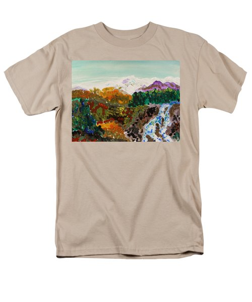 Mountain Water Men's T-Shirt  (Regular Fit) by Mary Carol Williams