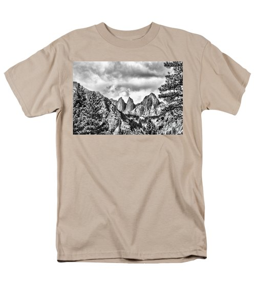 Mt. Whitney Men's T-Shirt  (Regular Fit) by Peggy Hughes