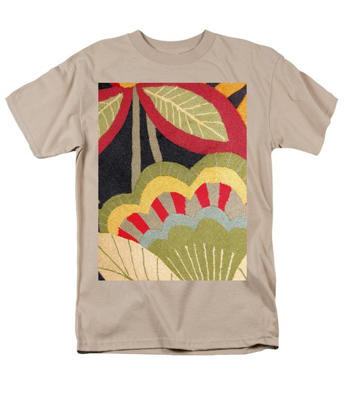 Men's T-Shirt  (Regular Fit) featuring the photograph Multi-colored Flowers Leaves Textile by Janette Boyd