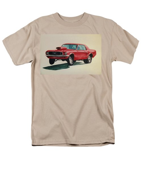 Men's T-Shirt  (Regular Fit) featuring the painting Mustang Launch by Stacy C Bottoms