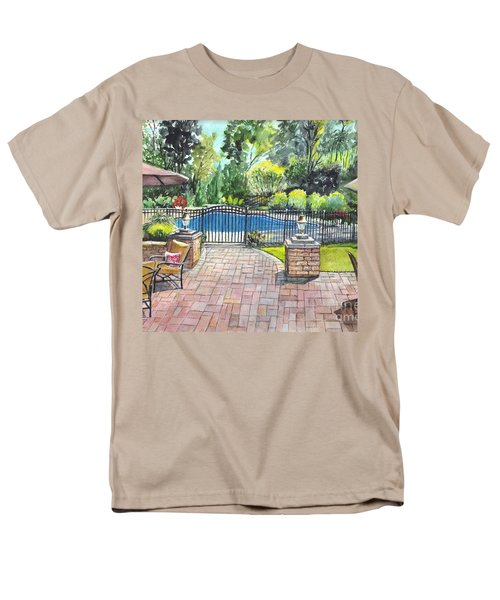Men's T-Shirt  (Regular Fit) featuring the painting My Backyard Vacation by Carol Wisniewski