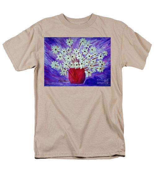 My Daisies Blue Version Men's T-Shirt  (Regular Fit) by Ramona Matei