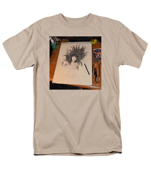 My Drawing Of A Beauty Coming Alive Men's T-Shirt  (Regular Fit) by Jim Fitzpatrick