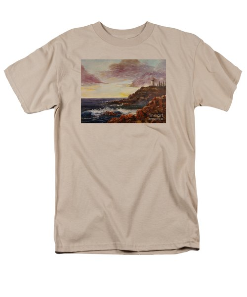 Men's T-Shirt  (Regular Fit) featuring the painting New England Storm by Lee Piper