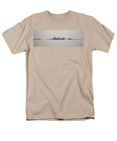 New York City 2013 Skyline 20x60 Men's T-Shirt  (Regular Fit)