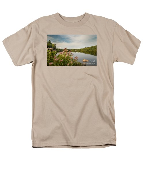 Men's T-Shirt  (Regular Fit) featuring the photograph New York Lake by Debbie Green