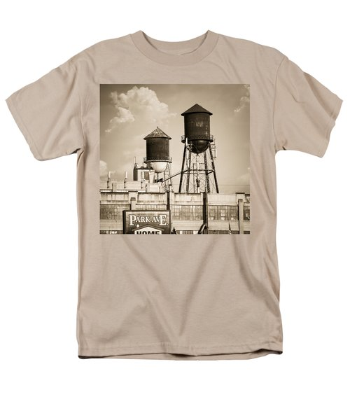 New York Water Tower 8 - Williamsburg Brooklyn Men's T-Shirt  (Regular Fit) by Gary Heller