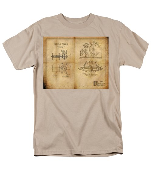 Men's T-Shirt  (Regular Fit) featuring the painting Nikola Telsa's Work by James Christopher Hill