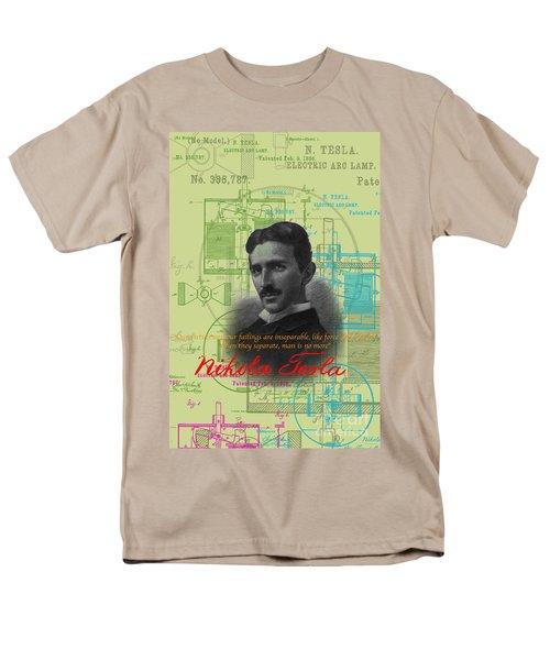 Nikola Tesla #3 Men's T-Shirt  (Regular Fit) by Jean luc Comperat