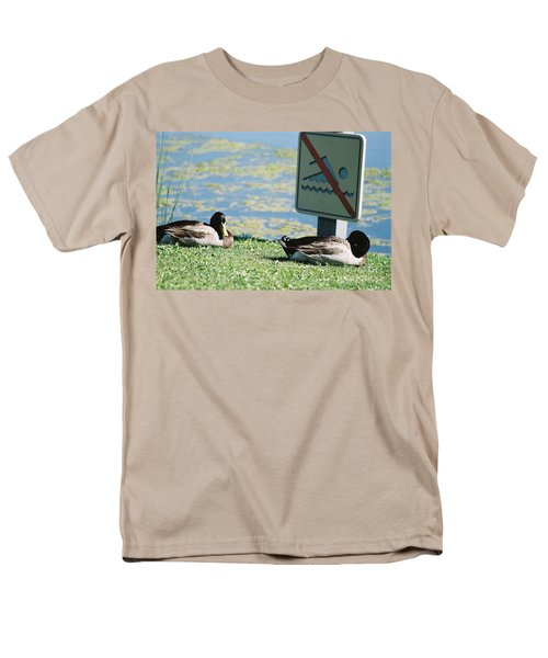 Men's T-Shirt  (Regular Fit) featuring the photograph No Swimming by Kerri Mortenson