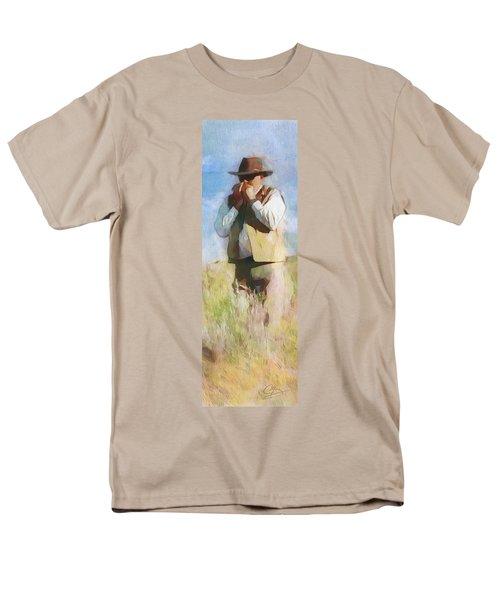 No Useless Cares - Panoramic Men's T-Shirt  (Regular Fit) by Greg Collins