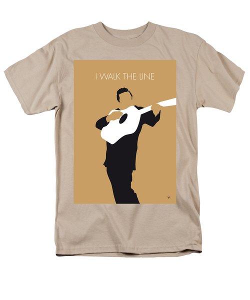 No010 My Johnny Cash Minimal Music Poster Men's T-Shirt  (Regular Fit)