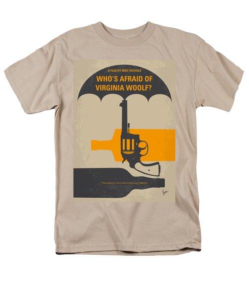 No426 My Whos Afraid Of Virginia Woolf Minimal Movie Poster Men's T-Shirt  (Regular Fit) by Chungkong Art