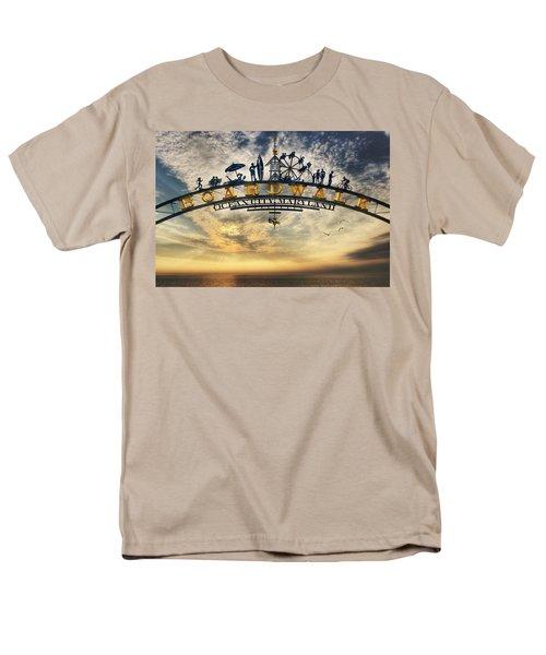 Ocean City Boardwalk Men's T-Shirt  (Regular Fit) by Lori Deiter