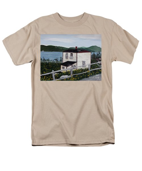 Old House - If Walls Could Talk Men's T-Shirt  (Regular Fit) by Barbara Griffin