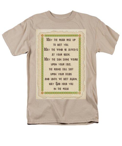 Old Irish Blessing Men's T-Shirt  (Regular Fit) by Olga Hamilton