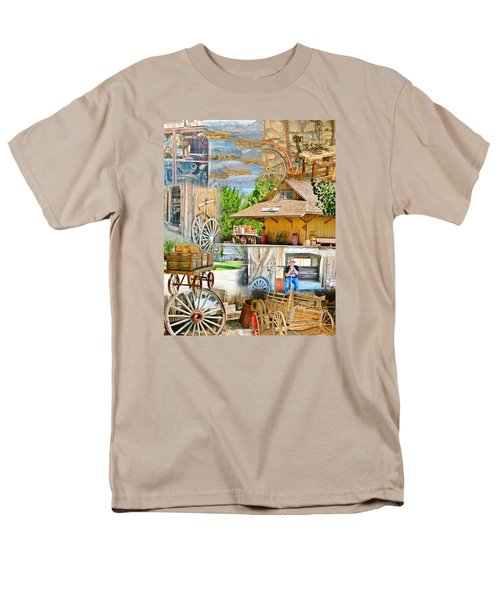 Old West Collage Men's T-Shirt  (Regular Fit) by Marilyn Diaz