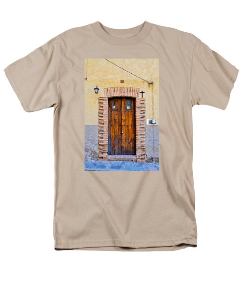 Old Wooden Door - Mexico - Photograph By David Perry Lawrence Men's T-Shirt  (Regular Fit)