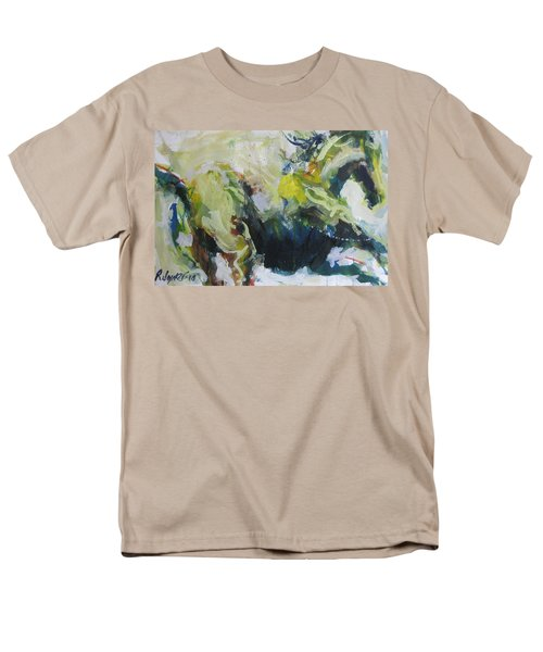 Men's T-Shirt  (Regular Fit) featuring the painting On The Run No.3 by Robert Joyner