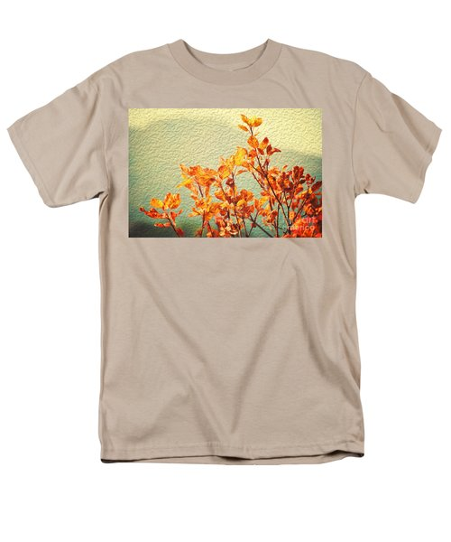 Men's T-Shirt  (Regular Fit) featuring the photograph Orange Leaves by Yew Kwang