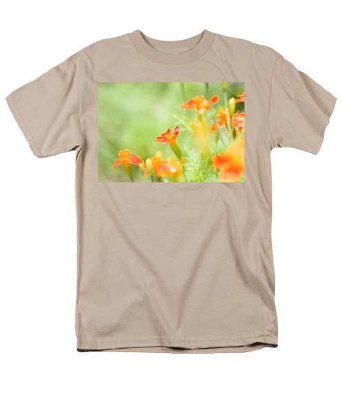 Men's T-Shirt  (Regular Fit) featuring the photograph Orange Meadow by Ann Lauwers