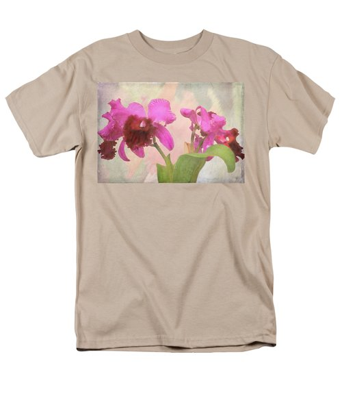 Men's T-Shirt  (Regular Fit) featuring the photograph Orchid In Hot Pink by Rosalie Scanlon