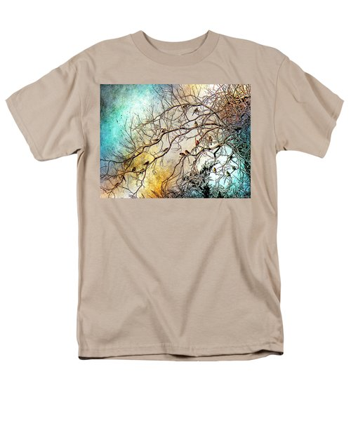 Out On A Limb In Jewel Tones Men's T-Shirt  (Regular Fit) by Barbara Chichester