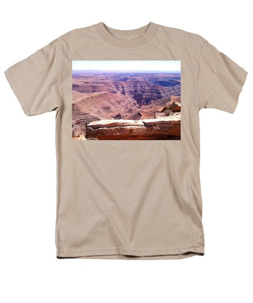 Overlook Into The Layers Of Time Men's T-Shirt  (Regular Fit) by Fortunate Findings Shirley Dickerson