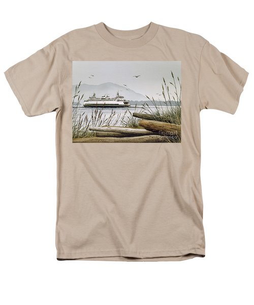Pacific Northwest Ferry Men's T-Shirt  (Regular Fit) by James Williamson