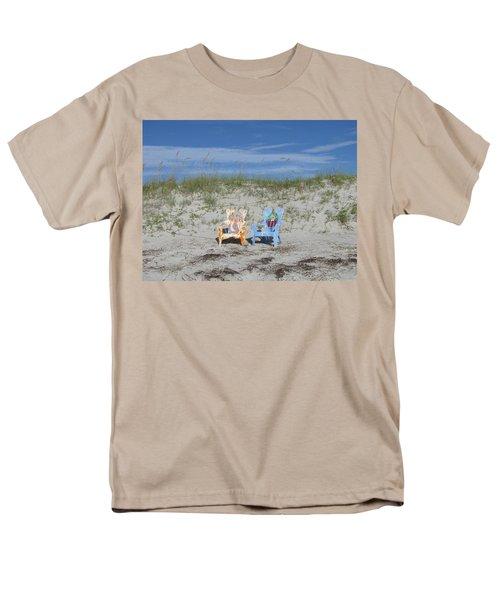 Painted Beach Chairs Men's T-Shirt  (Regular Fit) by Ellen Meakin