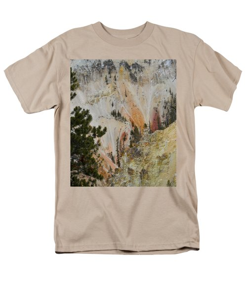 Painted Canyon At Lower Falls Men's T-Shirt  (Regular Fit) by Michele Myers