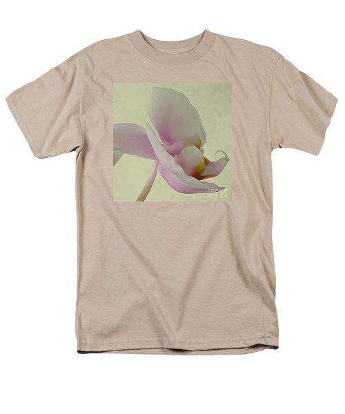 Pale Orchid On Cream Men's T-Shirt  (Regular Fit) by Barbie Corbett-Newmin