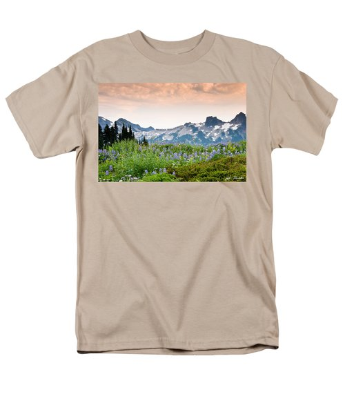 Men's T-Shirt  (Regular Fit) featuring the photograph Paradise Meadows And The Tatoosh Range by Jeff Goulden