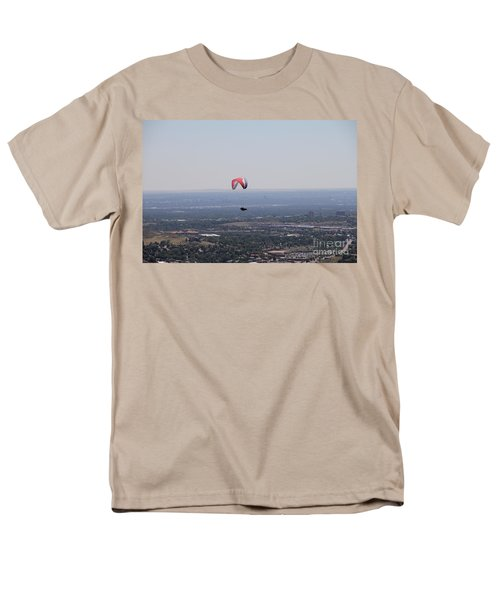 Men's T-Shirt  (Regular Fit) featuring the photograph Paragliding Over Golden by Chris Thomas