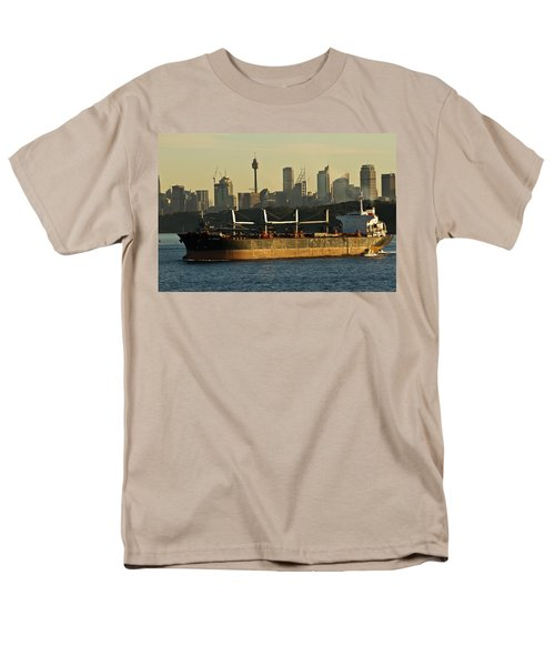 Men's T-Shirt  (Regular Fit) featuring the photograph Passing Sydney In The Sunset by Miroslava Jurcik