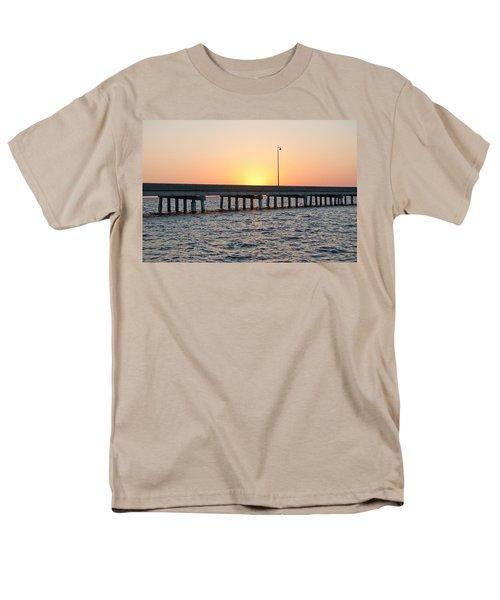 Peace River Bridge - Punta Gorda Florida Men's T-Shirt  (Regular Fit) by John Black