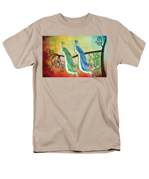 Men's T-Shirt  (Regular Fit) featuring the digital art Peacock Love by Kim Prowse