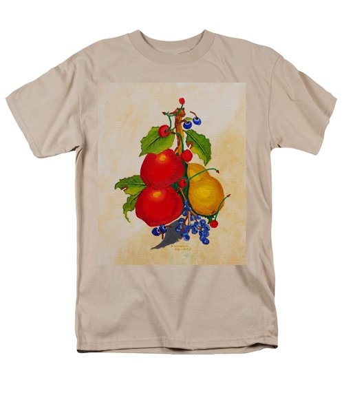 Pear And Apples Men's T-Shirt  (Regular Fit) by Johanna Bruwer