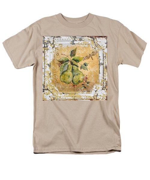 Pears And Dragonfly On Vintage Tin Men's T-Shirt  (Regular Fit)