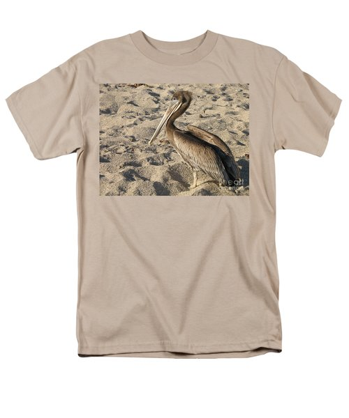 Pelican On Beach Men's T-Shirt  (Regular Fit) by DejaVu Designs